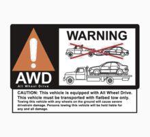 AWD Warning Towing Subaru T-Shirt