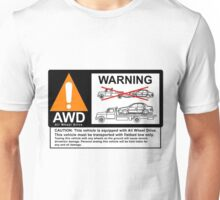 AWD Warning Towing Subaru Unisex T-Shirt