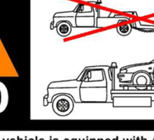 AWD Warning Towing Subaru Sticker