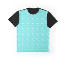 Whales and fish in a dotted sea Graphic T-Shirt