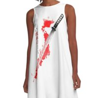 Ancient Bloody Japan A-Line Dress