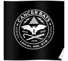 cancer bats logo Poster
