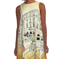 City Girl Fashion Streetstyle A-Line Dress