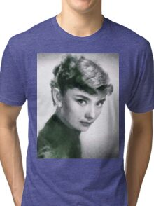 Audrey Hepburn Hollywood Actress Tri-blend T-Shirt
