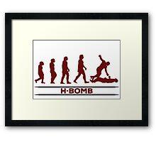 H - BOMB Framed Print