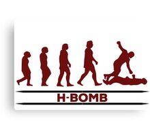 H - BOMB Canvas Print