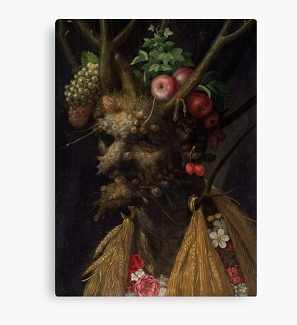 Arcimboldo 4 season in one Canvas Print