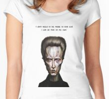 Walken Alone Women's Fitted Scoop T-Shirt