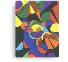 A colourful abstract design Canvas Print