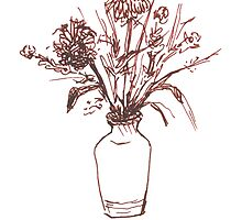 Magenta Floral by thegestianpoet