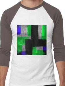 Abstract Tiles Men's Baseball ¾ T-Shirt