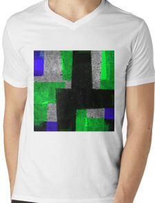 Abstract Tiles Mens V-Neck T-Shirt