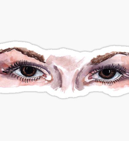 brown eyes Sticker