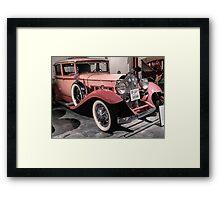 Pink Packard Framed Print