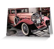 Pink Packard Greeting Card