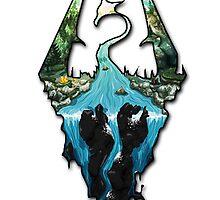Custom Skyrim Logo by Jungyoomi