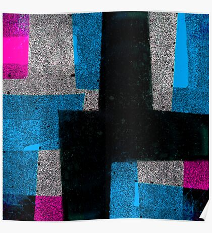 Abstract Tiles Poster