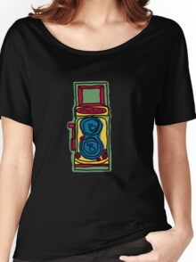 Bold and Colorful Camera Design Women's Relaxed Fit T-Shirt