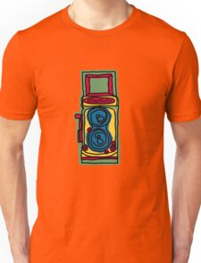 Bold and Colorful Camera Design Unisex T-Shirt