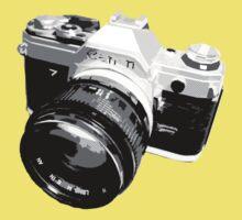 Black and White 35mm SLR Design Kids Tee