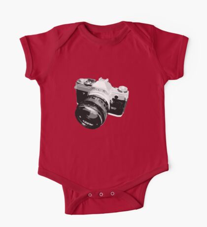 Black and White 35mm SLR Design One Piece - Short Sleeve