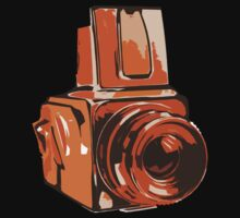 Medium Format 6x6 Camera Design in Orange by strayfoto