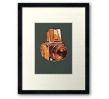 Medium Format 6x6 Camera Design in Orange Framed Print