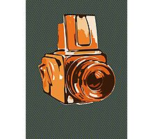Medium Format 6x6 Camera Design in Orange Photographic Print