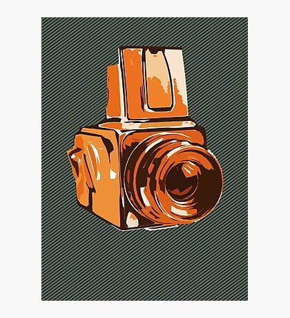 Medium Format 6x6 Camera Design in Orange Photographic Print