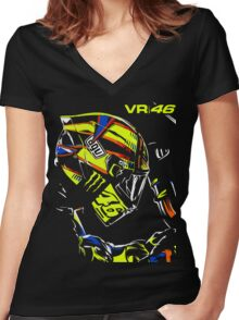 ROSSI 46 Women's Fitted V-Neck T-Shirt