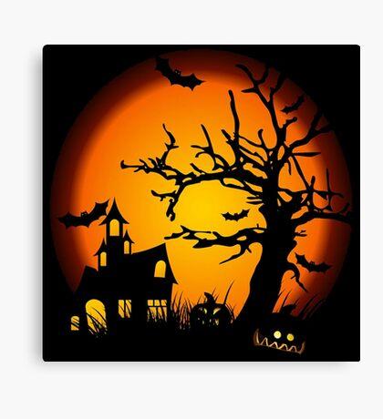 Night Halloween Canvas Print