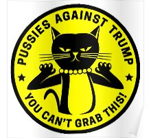 Pussies Against Trump yellow Poster