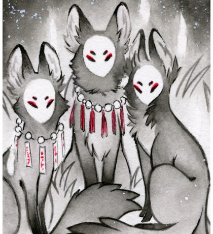 The Kitsune Companions Sticker