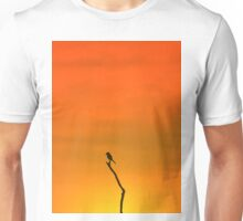 Wild Bird Silhouette - Simplistic Colorful Backgrounds from Nature Unisex T-Shirt