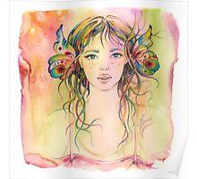"""""""Gardener Girl"""" from the series """"Gaya"""" Poster"""