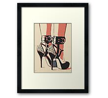 Good Girl knows what to wear, bdsm, bondage play Framed Print