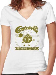 The Original CASTROVILLE ARTICHOKE FESTIVAL - Dustin's shirt in Stranger Things Women's Fitted V-Neck T-Shirt