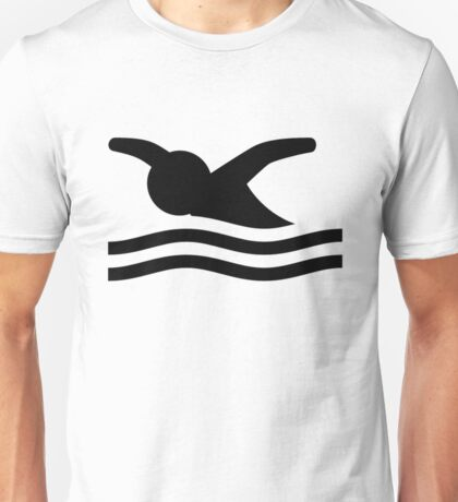 Butterfly Swimming Style Unisex T-Shirt
