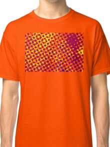 Vintage halftone pattern red and Brown Classic T-Shirt