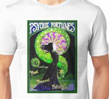 PSYCHIC FORTUNES; Vintage Fortune Telling Print Unisex T-Shirt