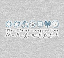 UFO, Aliens, The Drake equation, SETI, Alien, search for extraterrestrial life, Contact, Is there anyone there? Kids Tee