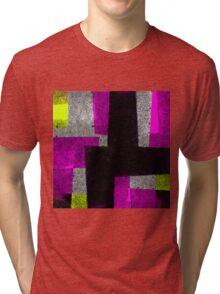 Abstract Tiles Tri-blend T-Shirt