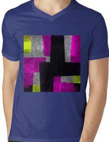 Abstract Tiles Mens V-Neck T-Shirt