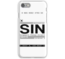 SIN Singapore Changi Airport Call Letters iPhone Case/Skin