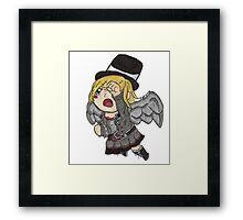 Chibi Steampunk Angel Framed Print