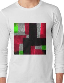 Abstract Tiles Long Sleeve T-Shirt