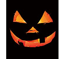 SCARY PUMPKIN HALLOWEEN Photographic Print