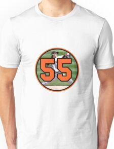 Tim Lincecum San Fransisco Giants Number 55 Unisex T-Shirt