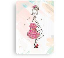 Carnation Girl Canvas Print