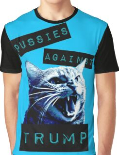 Pussies Against Trump Impact Graphic T-Shirt